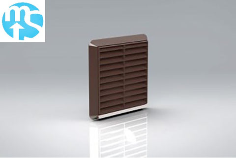 "100mm Brown Louvered Grille Vent *4"" Spigot*"