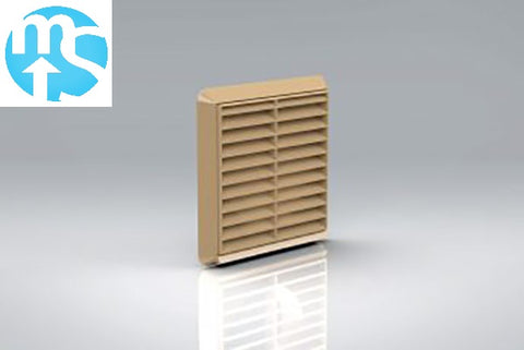 "100mm Beige Louvered Grille Vent *4"" Spigot*"