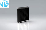 "100mm Black Louvered Grille Vent *4"" Spigot*"