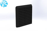 "150mm Black Louvered Grille Vent *6"" Spigot*"