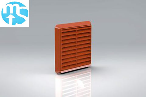 "100mm Terracotta Louvered Grille Vent *4"" Spigot*"