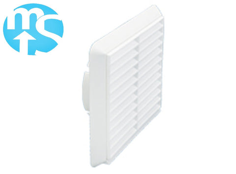 "125mm White Louvered Grille Vent *5"" Spigot*"