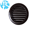 "100mm (4"") Brown Round Grille - Internal or External Use"