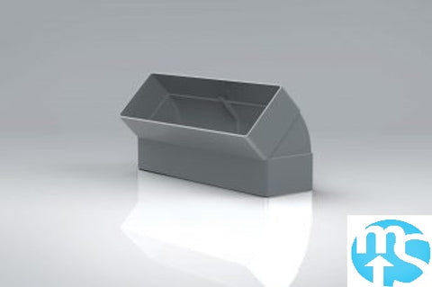 204 x 60 Ducting Vertical 45 Degree Bend *Grey - Recycled Ducting*