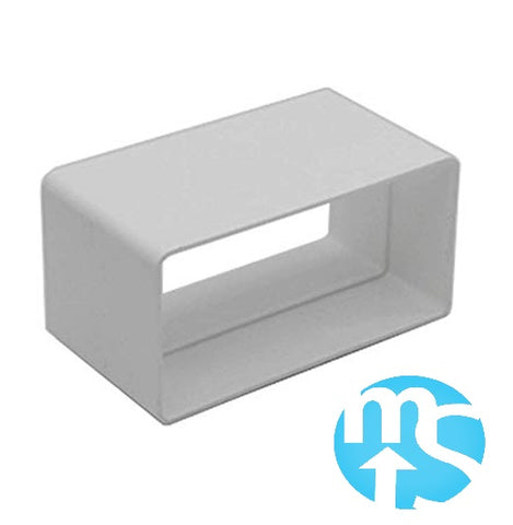 220 x 90 Megaduct Flat Channel Connector *Large Flat Channel Ducting*