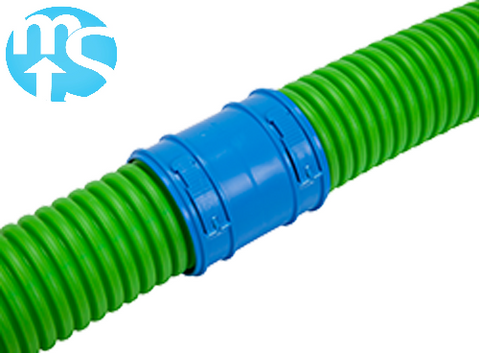 75mm Round Radial Connector with locking clips & two sealing rings