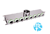 14 Port Manifold Box Acoustically Lined Stainless Steel with 150mm Round Input
