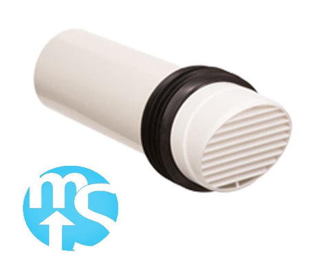 "100mm 4"" High Rise Ventilator WHITE"