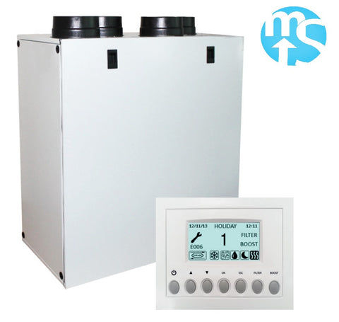 Up to 89% Heat Recovery Unit Elta Vigo 350A Whole House MVHR System