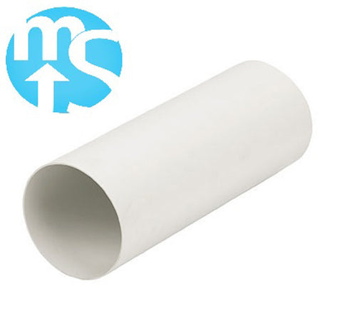 "6"" 125mm Plastic Solid Ducting *350mm, 500mm, 1000mm lengths*"