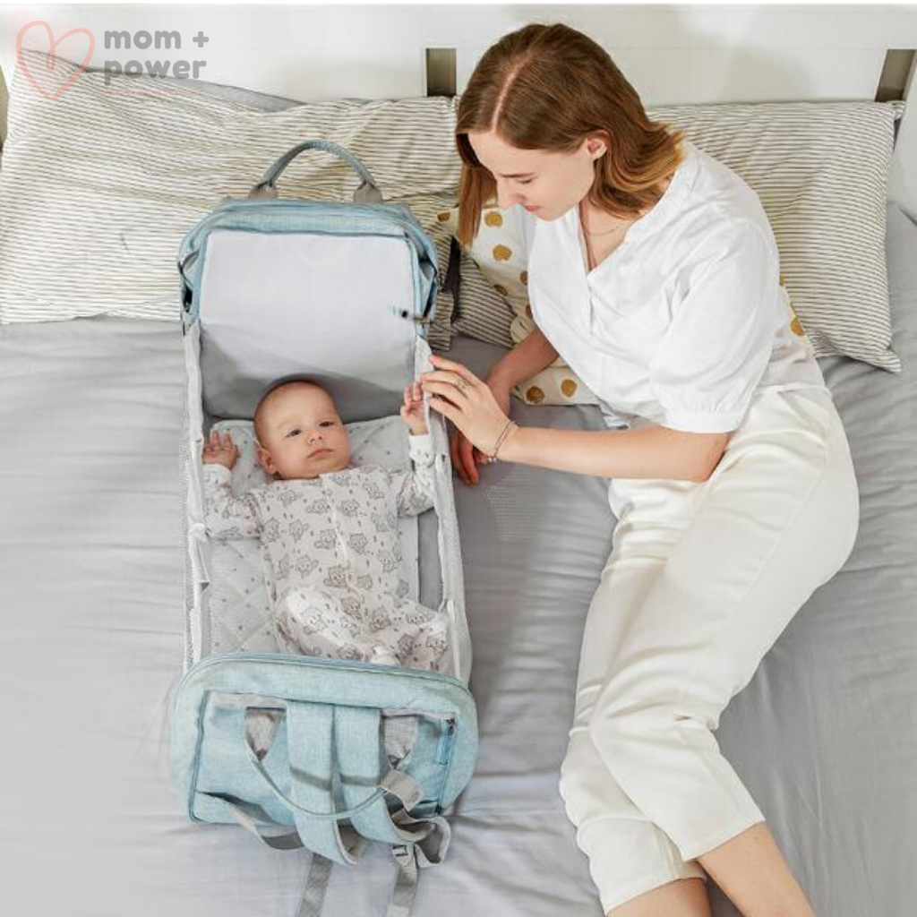 Huggles Pack™ Baby Portable Bed & Diaper Bag