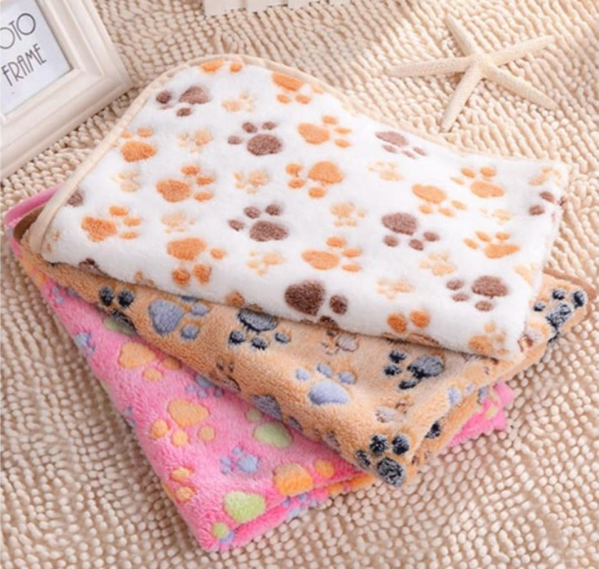 Cute Paw Print Soft Kitty Blanket