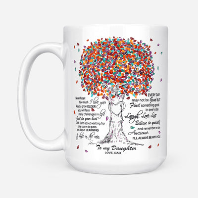 To my daughter coffee mug - Never forget how much I love you - Gift for daughter from dad - Birthday Gifts - Mug with quotes - 396