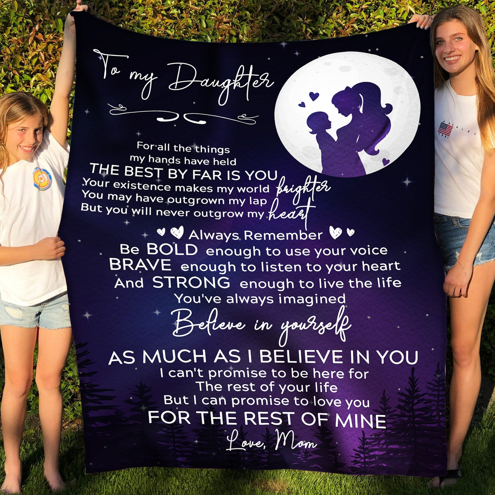 To my daughter fleece blanket - The best by far is you - Gift for daughter from mother - Birthday gifts, blanket with quotes - 135