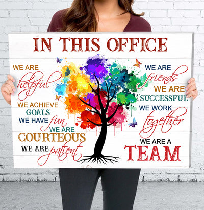 Matte Canvas - In This Office - Canvas with quotes, Office Art Work, Motivational Canvas, Office Wall Art - 7367