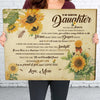 To my daughter Matte Canvas - Like A Sunflower - Gift for daughter From Mom, Sentimental Gifts, Christmas gifts