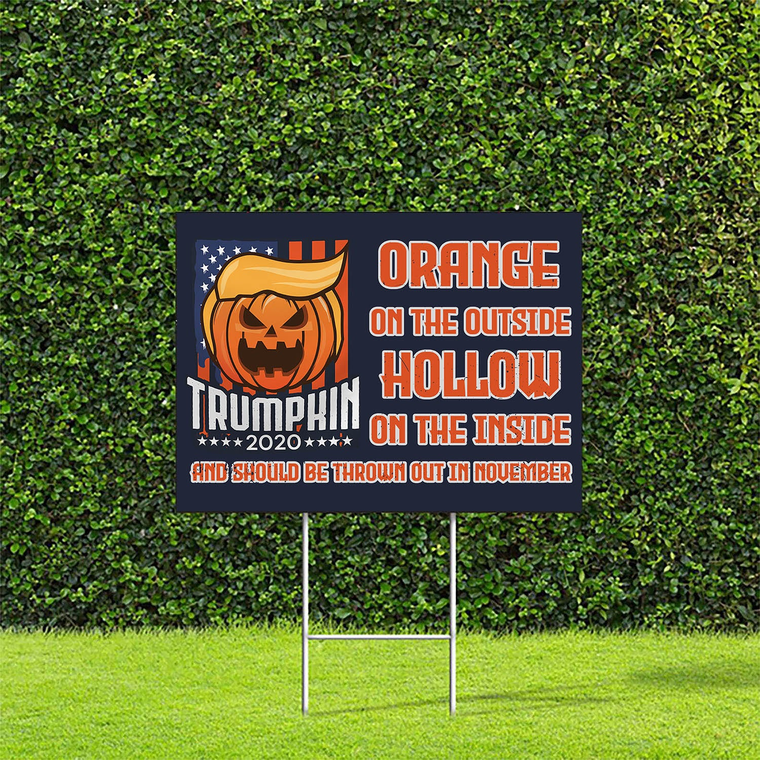 Yard Sign - Trumpkin 2020, Should Be Thrown Out In November - Outdoor Decoration, Election Yard Sign, Political Yard Sign - 6567
