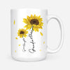 To my granddaughter coffee mug, sunflower mug - Never forget that I love you - Gift for granddaughter - Birthday gifts - Mug with quotes - 342