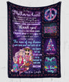 To mother-in-law fleece blanket - Thank you – Christmas hippie blanket - Sentimental gifts for mother-in-law, blanket with quotes