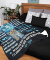 To My Son Fleece Blanket - The Ride Goes On - Sentimental Gift For Son, Gift For Son From Dad, Christmas Gift For Son, Blanket With Quotes
