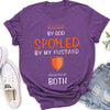 Blessed by God, Spoiled by my husband - Premium T-shirt - Gifts for wife, Gifts for girlfriends, Couple gifts 2020