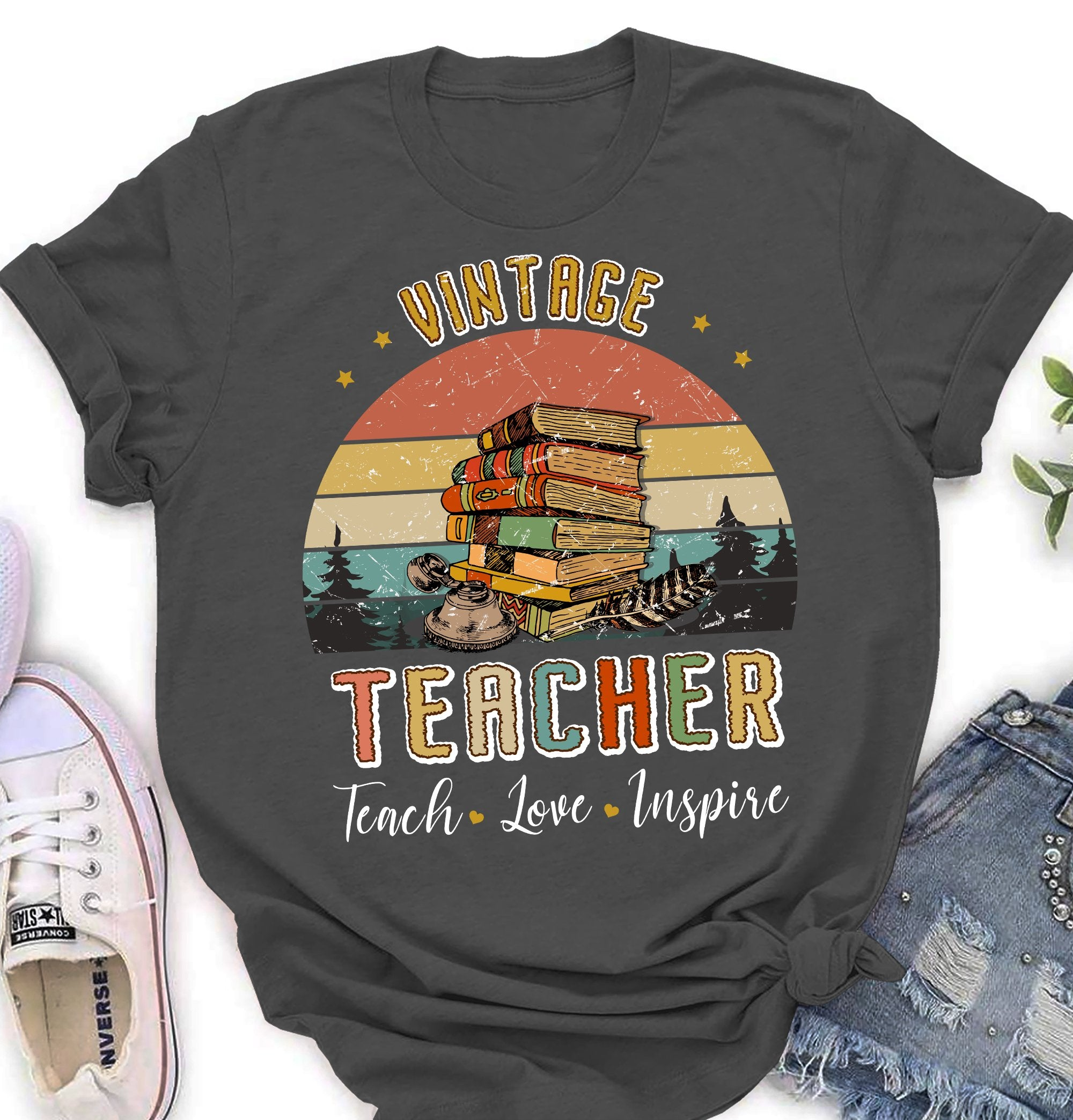 Vintage Teacher - Classic Unisex T-shirt - Gifts For Teacher