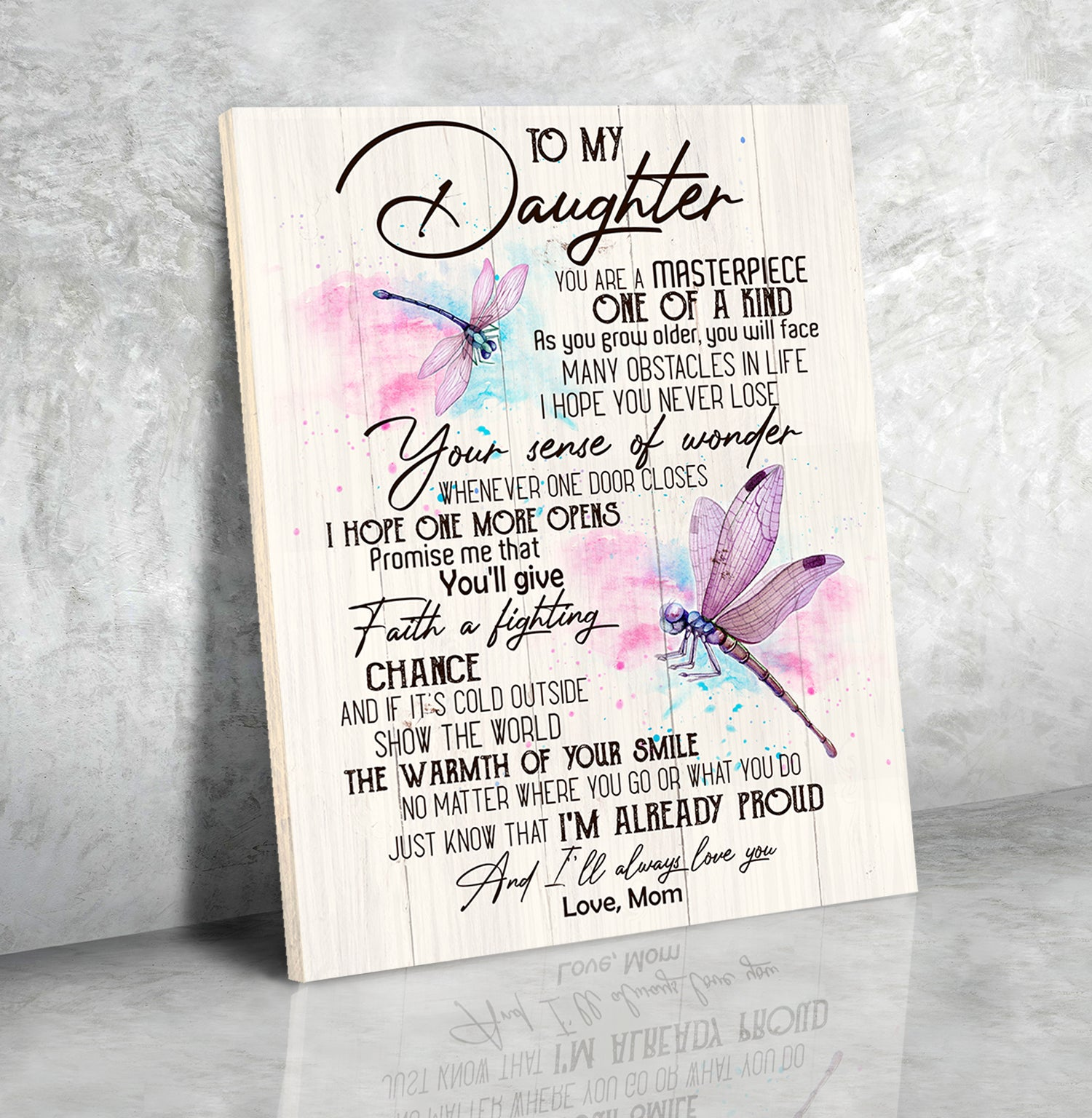 Matte Canvas - To My Daughter - You Are A Masterpiece -  Gift For Daughter From Mom - Wall Art Decoration - 2007