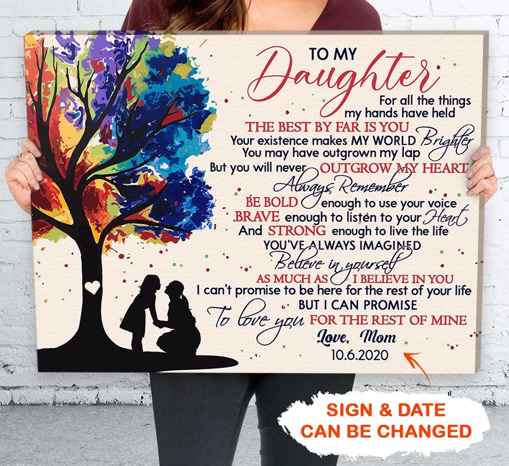 Personalized Custom Canvas - Believe In Yourself - Gifts For Daughter From Mom, Personalized Gifts - 4631