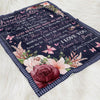 To My Granddaughter Fleece Blanket - Once Upon A Time - Gifts For Granddaughter From Grandma - Birthday Gifts, Blanket With Quotes - 8551
