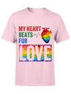 Standard T-shirt - My Heart Beats For Love - Gifts For Him, Gifts For Her - 0247