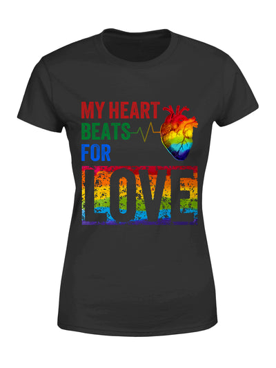 Standard Women's T-shirt - My Heart Beats For Love - Gifts For Her - 3015