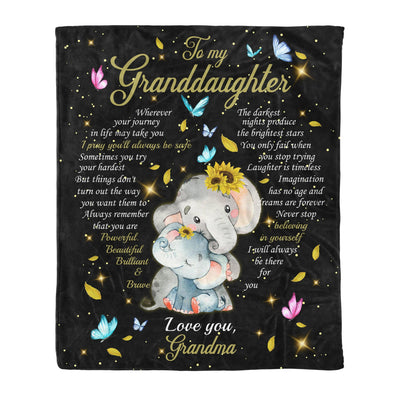 To my granddaughter fleece blanket - I pray you will always be safe - Gift for granddaughter - Birthday gifts, blanket with quotes - 281