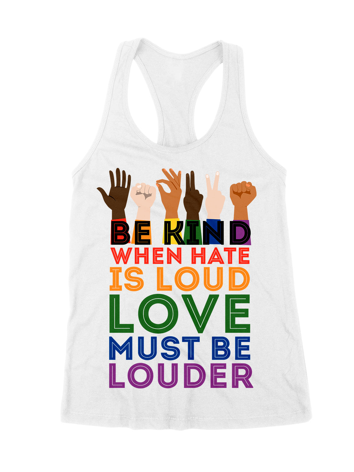 Standard Tank Top - Be kind - Love is Love - Black Lives Matter - Rainbow Tank Top - 2295