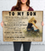 Son Mom - Wish You Were Still Small - Gift From Mom To Son - Home Decor Wall Art - 6007