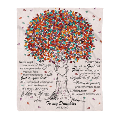 To my daughter fleece blanket - Never forget how much I love you blanket - Gift for daughter from dad - Birthday gifts - 60