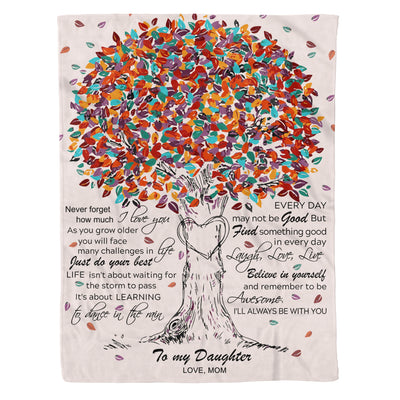 To my daughter fleece blanket - Never forget how much I love you - Gift for daughter from mother - Birthday gifts - 712