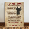 Matte Canvas - To My Son - Always Love You - Gift For Son From Dad - Wall Art Decoration - Birthday Gift - 2199