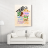 Matte Canvas - In this house we believe - Home Decor Wall Art - Family Canvas - 2503