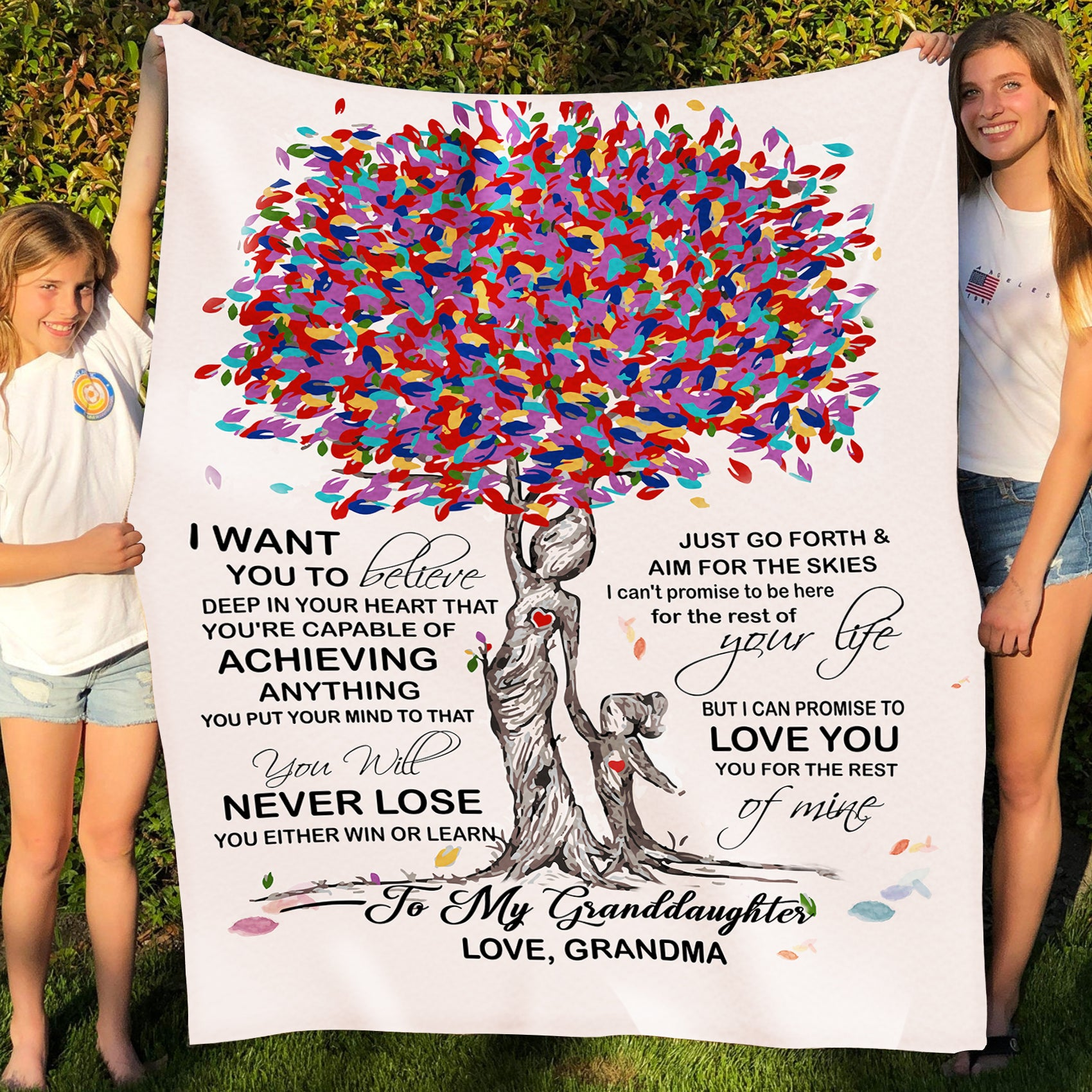 To my granddaughter fleece blanket, never lose blanket - Gift for granddaughter - Birthday gifts, blanket with quotes - 226