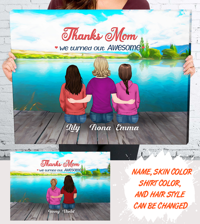 Personalized Custom Canvas - Mother Day Gift, Thanks Mom, Wall Art, Gift For Mom - 4824