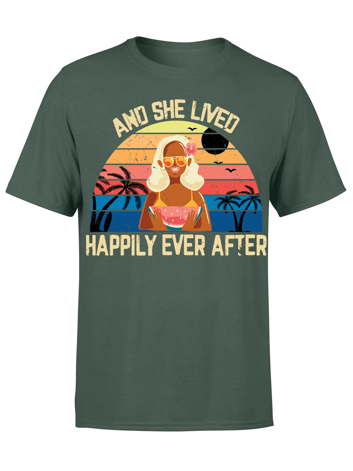Classic T-shirt - Happily ever after - Summer shirt, Woman shirt - 6119