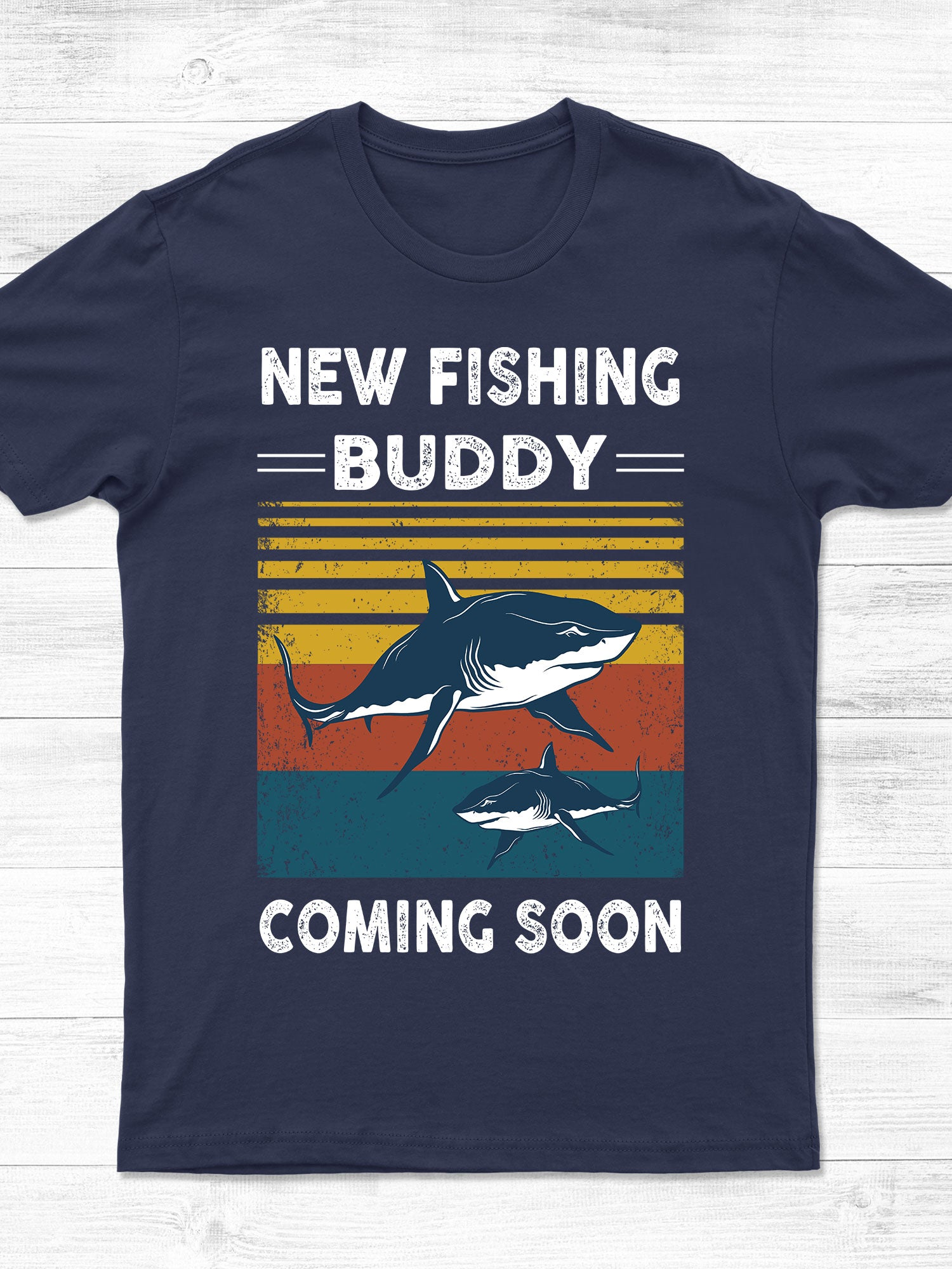 Classic T-shirt - New fishing buddy coming soon - Gifts for Dad to be - 8295
