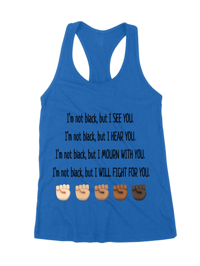 Tank Top - I will fight for you - Anti-Racism Tank Top - Black Lives Matter - 7479