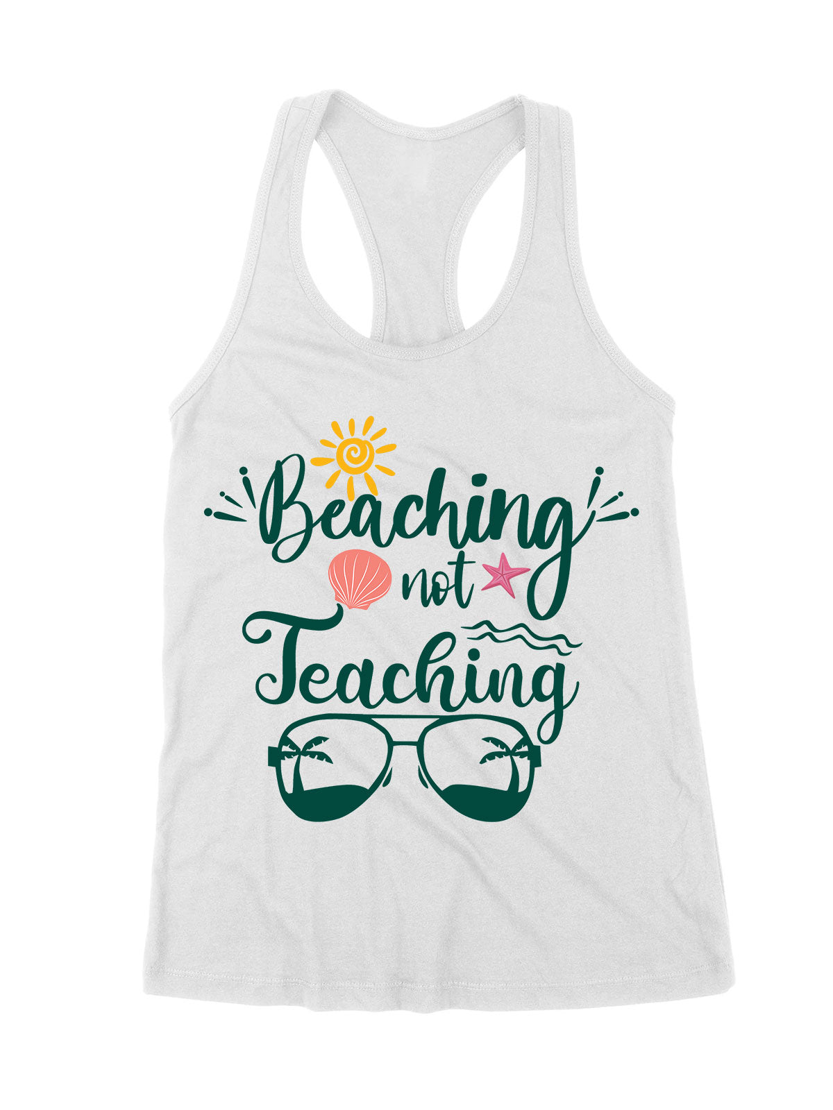 Premium Women's Tank - Beaching Not Teaching - Beach T-shirt - Summer T-shirt - Gift for Teachers - 1671