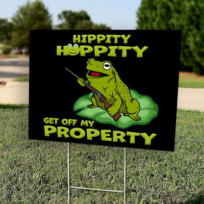 Yard Sign - Get Off My Property - Funny Yard Sign - Outdoor Decoration - 4247