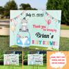 Personalized Custom Yard Sign - Drive-by Baby Shower - Gift for Mom-to-be, Baby shower gift - 8103