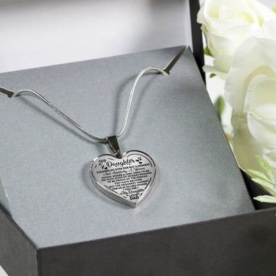 To my daughter necklace - I closed my eyes for but a moment - Gift for daughter from dad - Birthday gifts - Heart pendant necklace - 4328