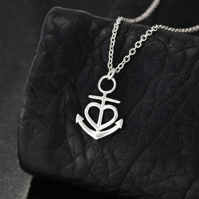 To my wife necklace - I love you - Gift for her, anniversary gifts - Anchor love necklace with message card - 0936