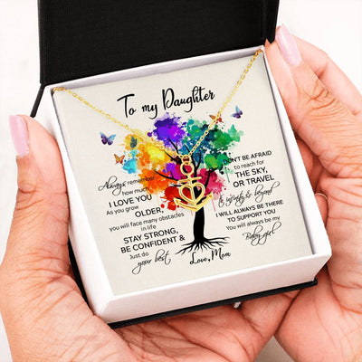 To my daughter necklace - To infinity and beyond necklace - Gift for daughter from mother - Anchor love necklace with message card - 1832