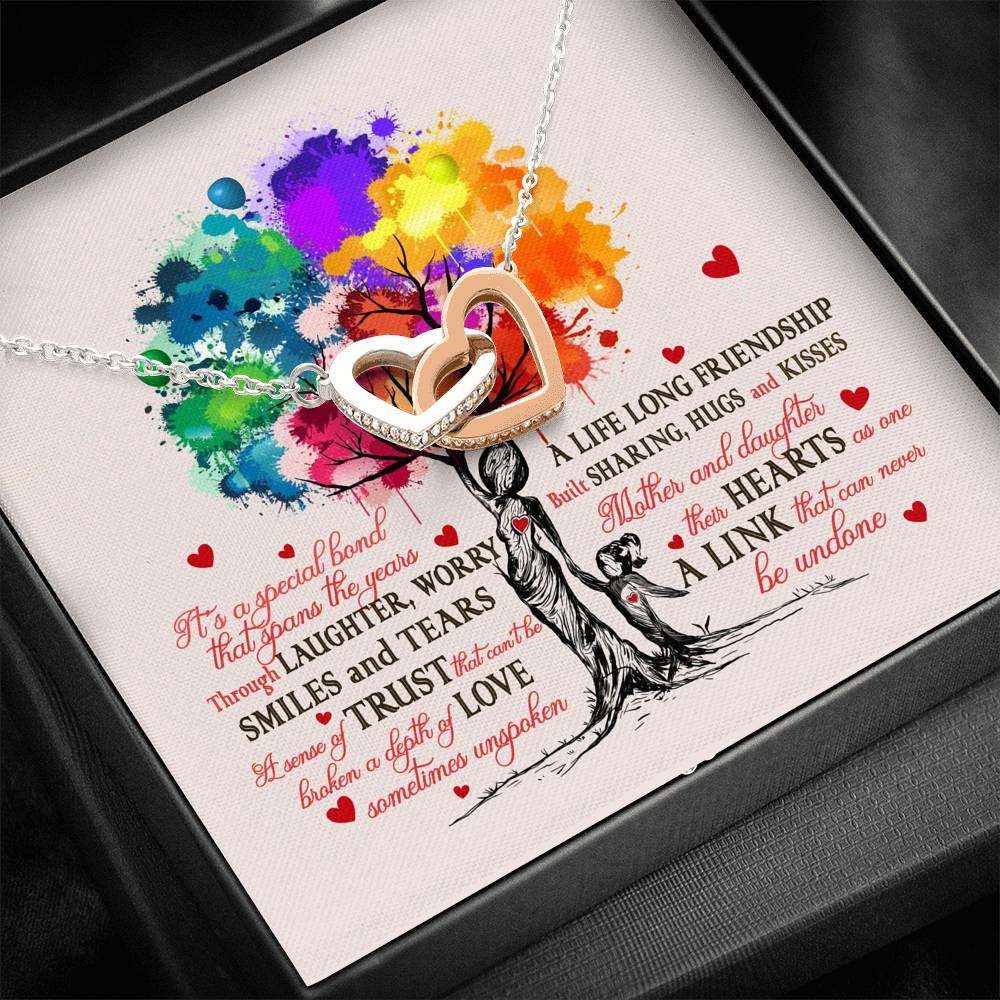 To my daughter necklace - A life long friendship - Gift for daughter from mom - Scripted love necklace with message card - 4199
